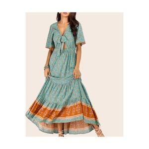 SHEIN cotton blue sun dress